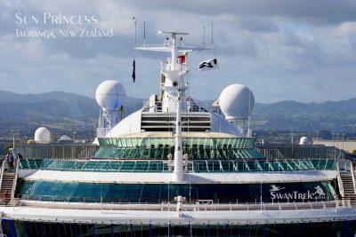 Front of Cruise Ship, Sun Princess, in Tauranga, New Zealand
